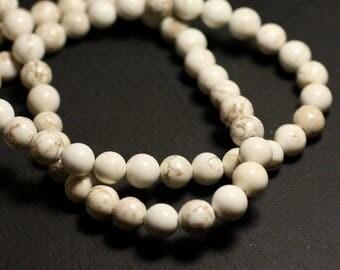 10pc - stone beads - Magnesite balls 8mm - 4558550033420