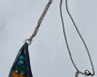 Original necklace on chain silver