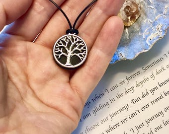 "Pendant of shungite ""tree of life"", emf protecting jewelry,Healing necklace,Magic crystal pendant,Schungite energy,elite shungite,reiki,boho"