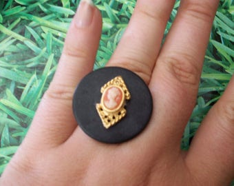 ring buttons small cameo