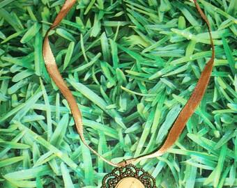 cabochons Parrot necklace