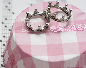 2 FOR CREATING CUPCAKE FIMO TIBETAN SILVER CROWNS OR OTHER