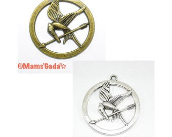 2 pendant/charm/Charms bird arrow mocking cheerful Hunger games