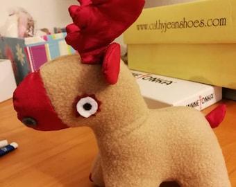 stuffed reindeer, mule deer, Christmas gift decoration