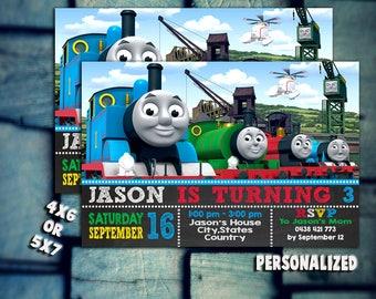 Thomas Train Invitation,Thomas Train Birthday,Thomas Train Party,Thomas Train Card,Thomas Train Printable,Thomas Train Invitations,Thomas