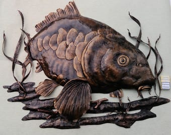 Forged carp handmade