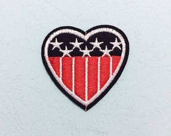 USA Patch, American Flag Patch  - Iron on Patch, Sew On Patch, Embroidered Patch