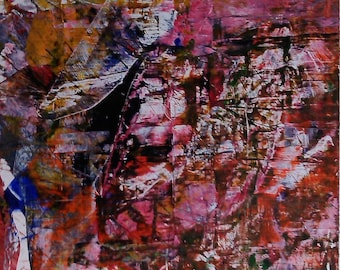 Abstraction Abstract Art abstract painting original abstract painting acrylic on cardboard 170525