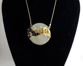 "Concrete contemporary jewelry,... ""Tangle"" pendant necklace"