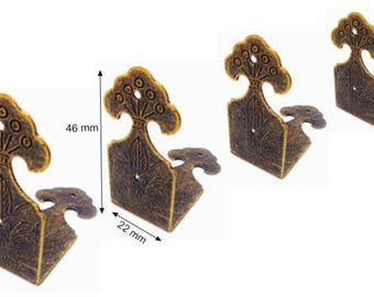 4 protective Bronze Angle shockproof and embellishment for furniture box trunk corners