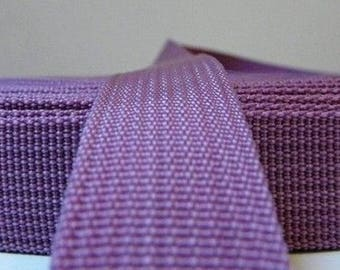 25 mm purple polypropylene webbing