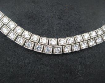 Antique Silver Paste bracelet, ca. 1910