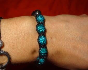 Shamballa bracelet with Royal Blue beads
