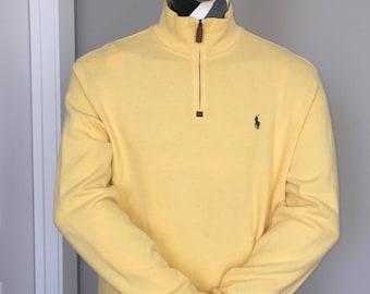 Polo Ralph Lauren-Quarter Zip-Pullover-Yellow