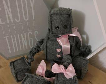 Little felt dress grey