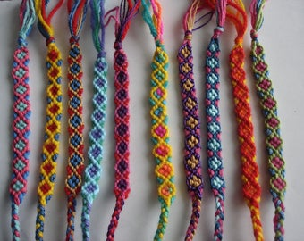 set of 10 Brazilian multicolored handmade bracelets new