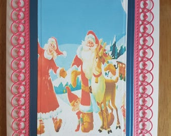 Handmade Christmas Blank Card/ 4pcs.