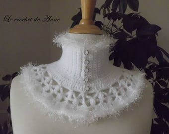 For girl, Victorian style white neck circumference.