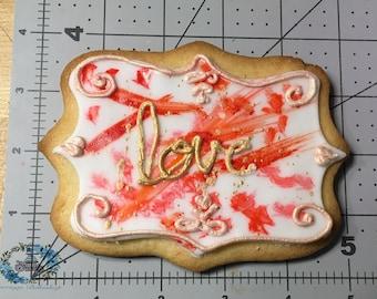 Painted Love Cookies