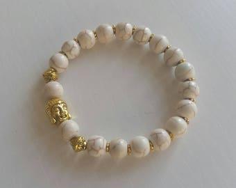 Howlite (8 mm beads) bracelet