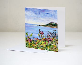 Through the Blackberries to Samson, The Isles of Scilly Blank Greeting Card