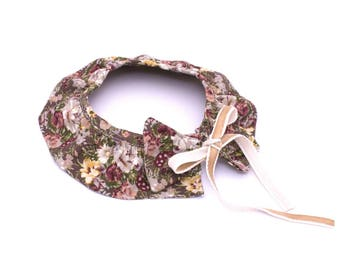 Shirt collar floral girl