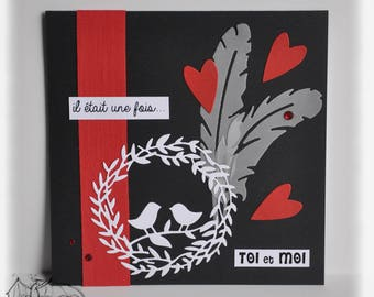 Card for Valentine's Day, love