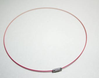 Cord necklace wire salmon 17.5 cm 1 mm