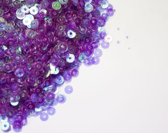 Sequin sew purple 4mm 40g bag