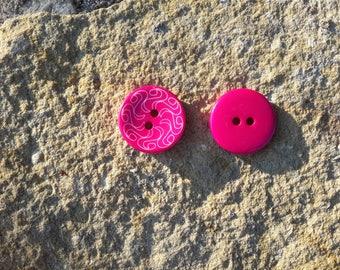 Acrylic fancy 3.5 cm in diameter button