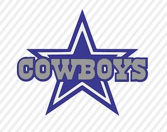 dallas cowboys svg, cowboys cuttable digital file, cricut file, silhouette  files, svg cutting files, sports logo monogram svg