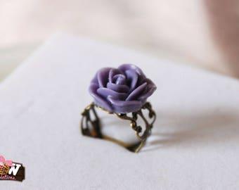 Ring - Dark purple Rose