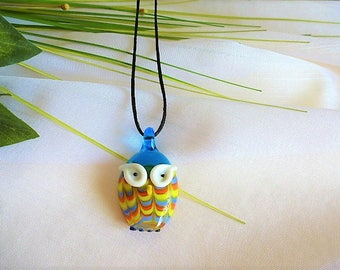 OWL pendant on cord necklace