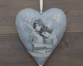 sold. heart hanging deco retro, one is handmade