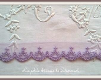 Lace purple Camellia
