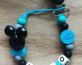 Personalized pacifier - pacifier - mickey - shiny - prince