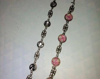bracelets glass cabochon