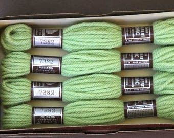 8 m skein 7382, green, 100% pure wool Colbert