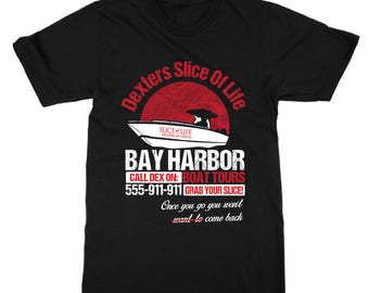 Dexter Shirt - Dexter TV Show Inspired T-Shirt - Bay Harbor Boat Tours - Cool Dexter TV Show T-Shirt