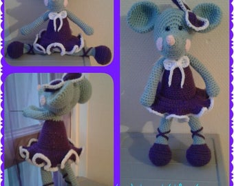 cute mouse in his coat of a dancer