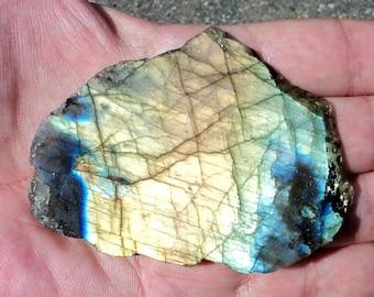LABRADORITE gemstone rough sawn Board mineral 85 g.