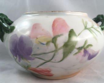 Vintage Limoges Vintage Gilded Sugar Bowl
