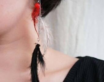 Single earring - Crazy Bird