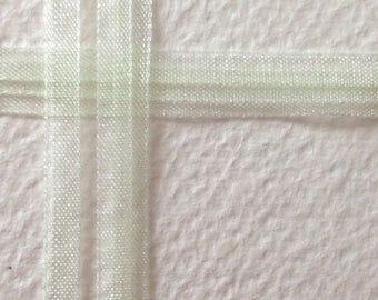 set of 20 m organza Ribbon celadon green 4mm