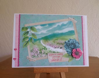 card for any occasion with a landscape