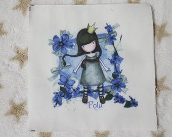 Little girl Patchwork fabric coupon