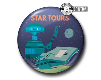"Star Tours - Vintage - 3"" Button"
