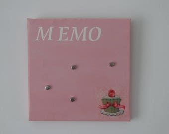Pink and white magnetic board / memo