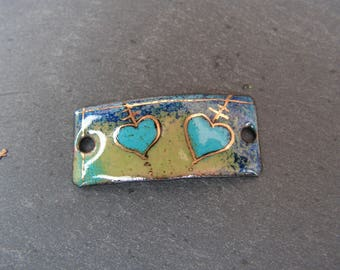 enamelled copper (hot) charm bracelet connector