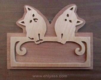 """Door model """"Two cats"""" 3 in fretwork"""